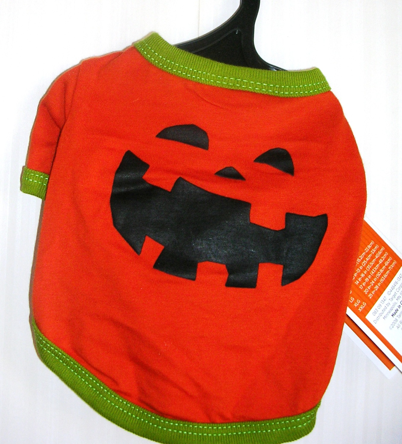 Dog Pet Costume Outfit Pumpkin Tee T Shirt XSmall